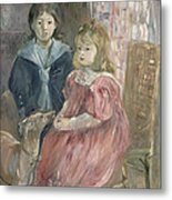 Double Portrait Of Charley And Jeannie Thomas Metal Print