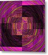 Double Rainbow Eddy Metal Print