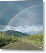 Double Rainbow Over The Denali Highway Metal Print