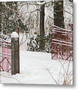 Double Red Iron Gates Metal Print
