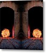 Double Tunnel On Fire Metal Print