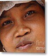 Cambodian Girl Metal Print
