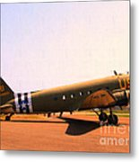Douglas C47 Skytrain Military Aircraft . Painterly Style 7d15788 Metal Print by Wingsdomain Art and Photography