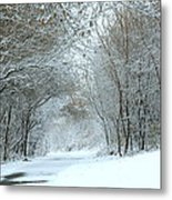 Down A Winter Road Metal Print
