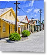 Down On Main Street Metal Print