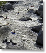 Down The Feather River Metal Print