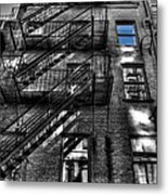 Downtown Blue Sky Dreams Metal Print