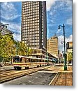 Downtown Buffalo Metro Rail  Heading To The Erie Canal Harbor Metal Print
