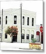 Downtown Flouresville Texas Metal Print