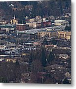 Downtown Grants Pass Sunday Morning Metal Print