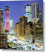 Downtown Manhattan Metal Print