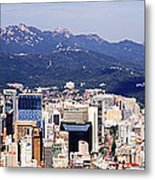 Downtown Seoul Skyline Metal Print by Jeremy Woodhouse