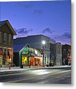 Downtown Waterville At Christmastime Metal Print