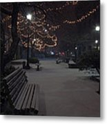 Downtown Winter Metal Print