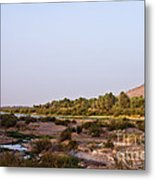 Draa River Metal Print
