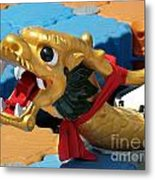 Dragon Figurehad Of A Chinese Boat Metal Print