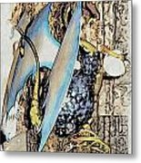 Dragon Reflexions And Repetition Metal Print