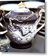 Dragon Satsuma Bowl Metal Print