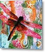 Dragonfly Fairy I Metal Print