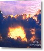 Dramatic Cloud And Sun Formation Metal Print