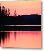 Dramatic Picture Of A Forest-edged Lake Metal Print