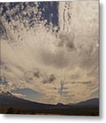 Dramatic Sky Over Mount Shasta Metal Print