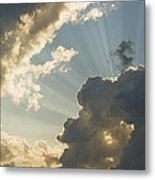 Dramatic Sunbeams And Storm Clouds Maine Photo Poster Print Metal Print
