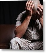 Dramatization Of A Us Marine Affected Metal Print