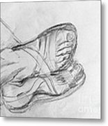 Drawing Class. Sandaled Feet Metal Print
