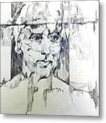 Drawing Of A Man Metal Print