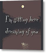 Dreaming Of You Greeting Card - Moon On Water Metal Print