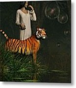 Dreams Of Tigers And Bubbles Metal Print