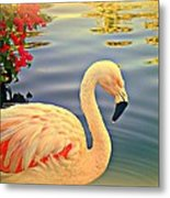 Dreamy Flamingo Metal Print