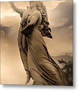 Dreamy Surreal Guardian Angels Ascent To Heaven Metal Print