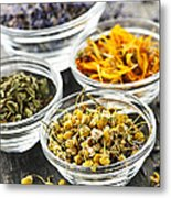 Dried Medicinal Herbs Metal Print by Elena Elisseeva
