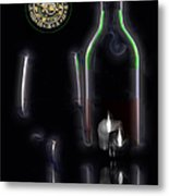 Drinking Alone Metal Print