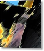 Drive By Abstract Metal Print