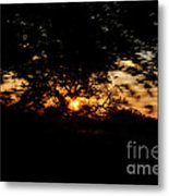 Drive By Sunset Metal Print
