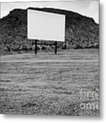 Drive In Movie Theater  Metal Print