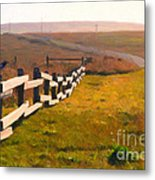 Driving Down The Lonely Highway . Study 1 . Painterly Metal Print by Wingsdomain Art and Photography