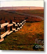 Driving Down The Lonely Highway . Study 2 . Painterly Metal Print by Wingsdomain Art and Photography