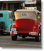 Driving Off Into History Metal Print