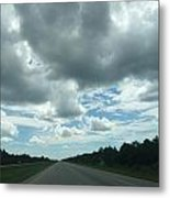 Driving Through The Clouds Metal Print