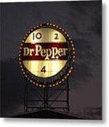 Dr.pepper Sign Metal Print