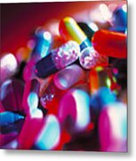 Drug Pills And Capsules Metal Print