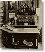 Drugstore Soda Fountain - New Orleans Metal Print