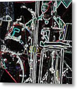 Drummer Metal Print by David Alvarez