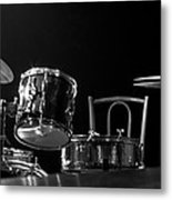 Drummer Set Metal Print