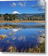 Dry Lagoon Panorama Metal Print