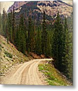Dubois Mountain Road Metal Print
